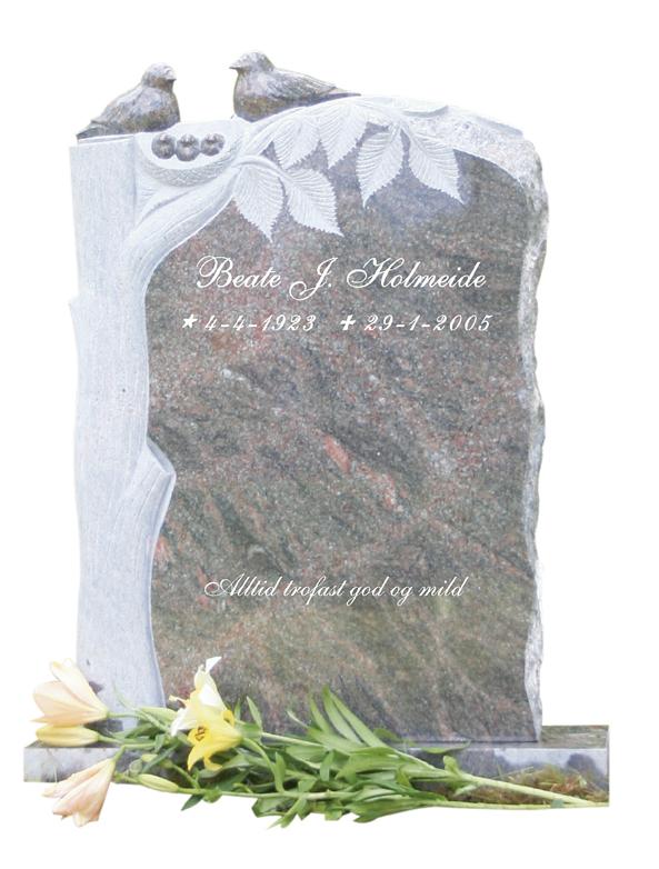 Bilde Komplett gravsten 296