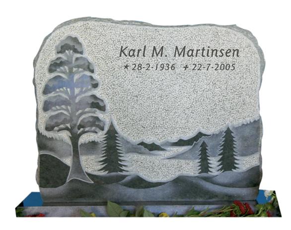 Bilde Komplett gravsten 297