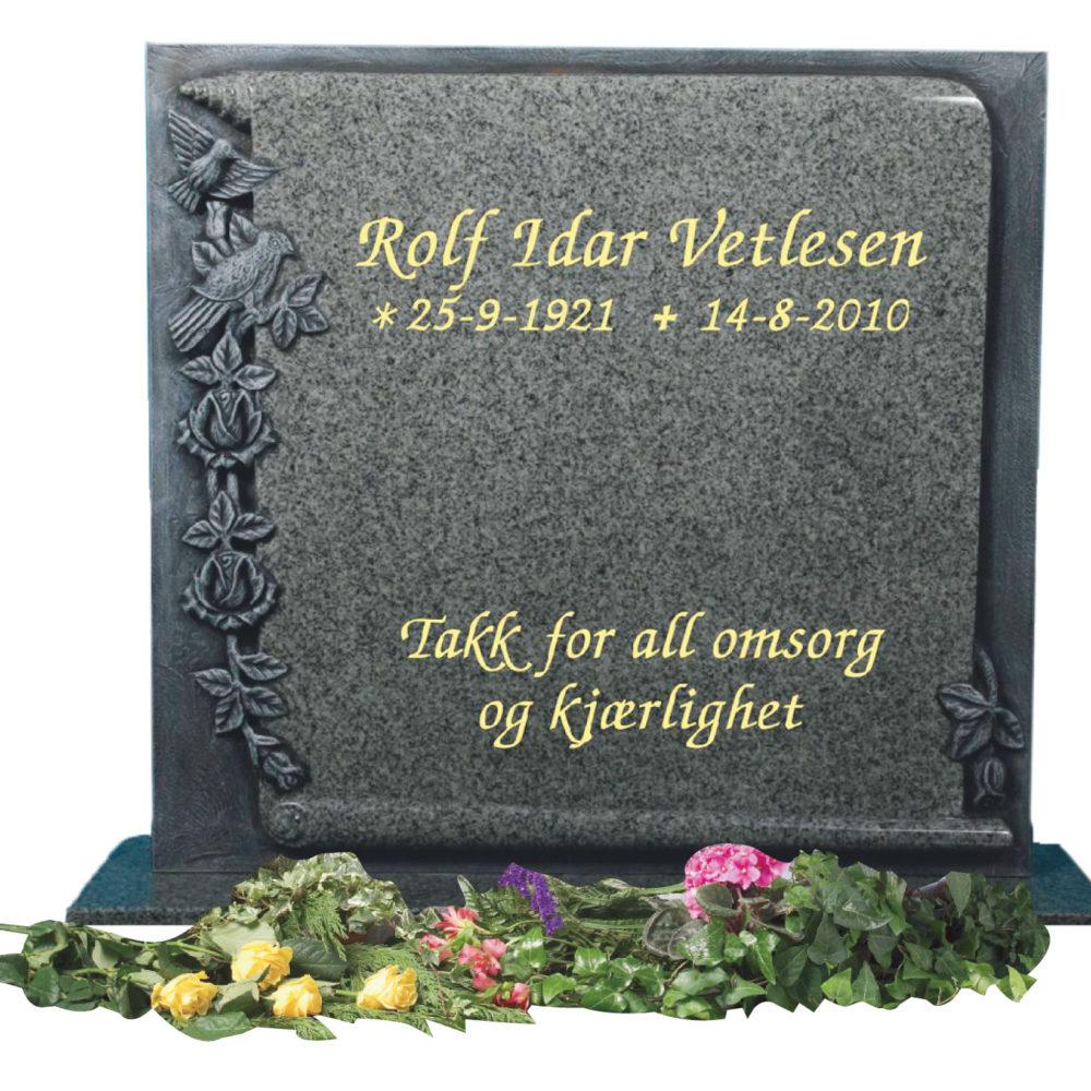 Bilde Komplett gravsten 338