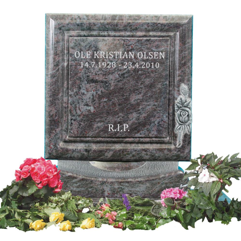 Bilde Komplett gravsten 340