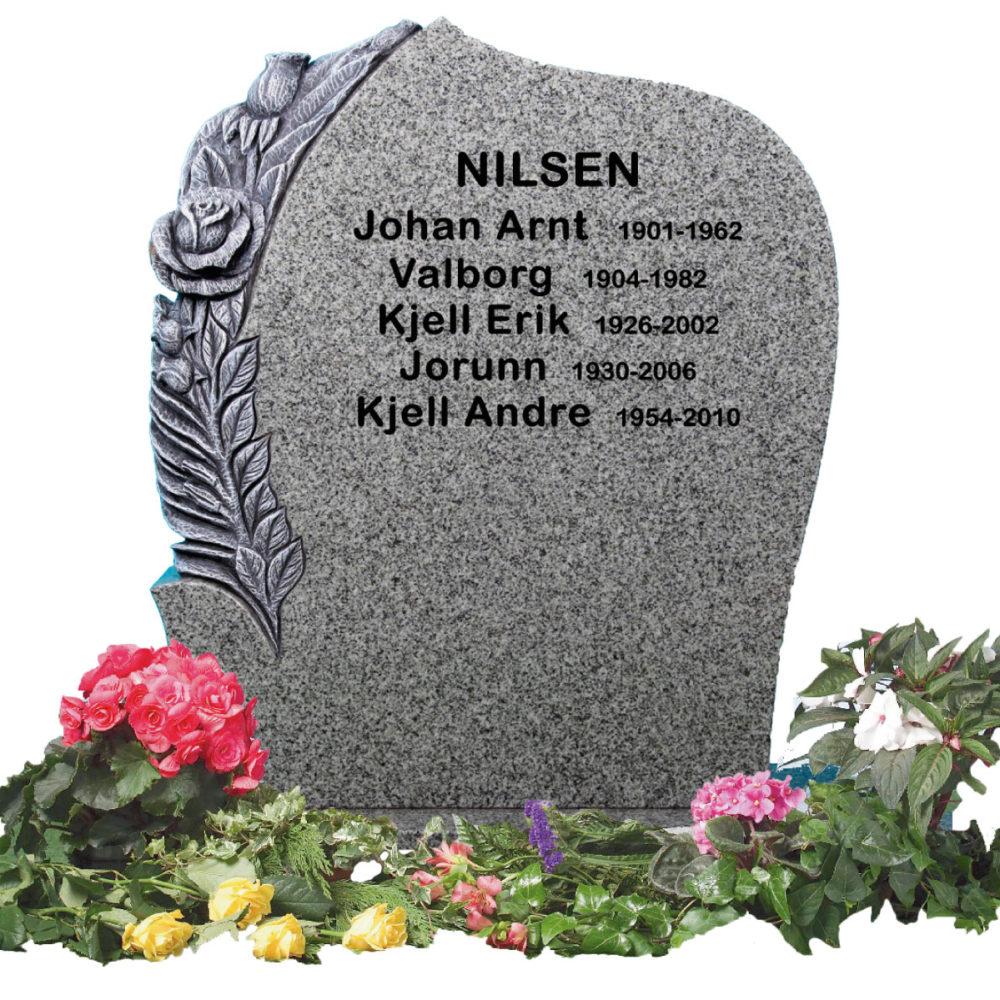 Bilde Komplett gravsten 341