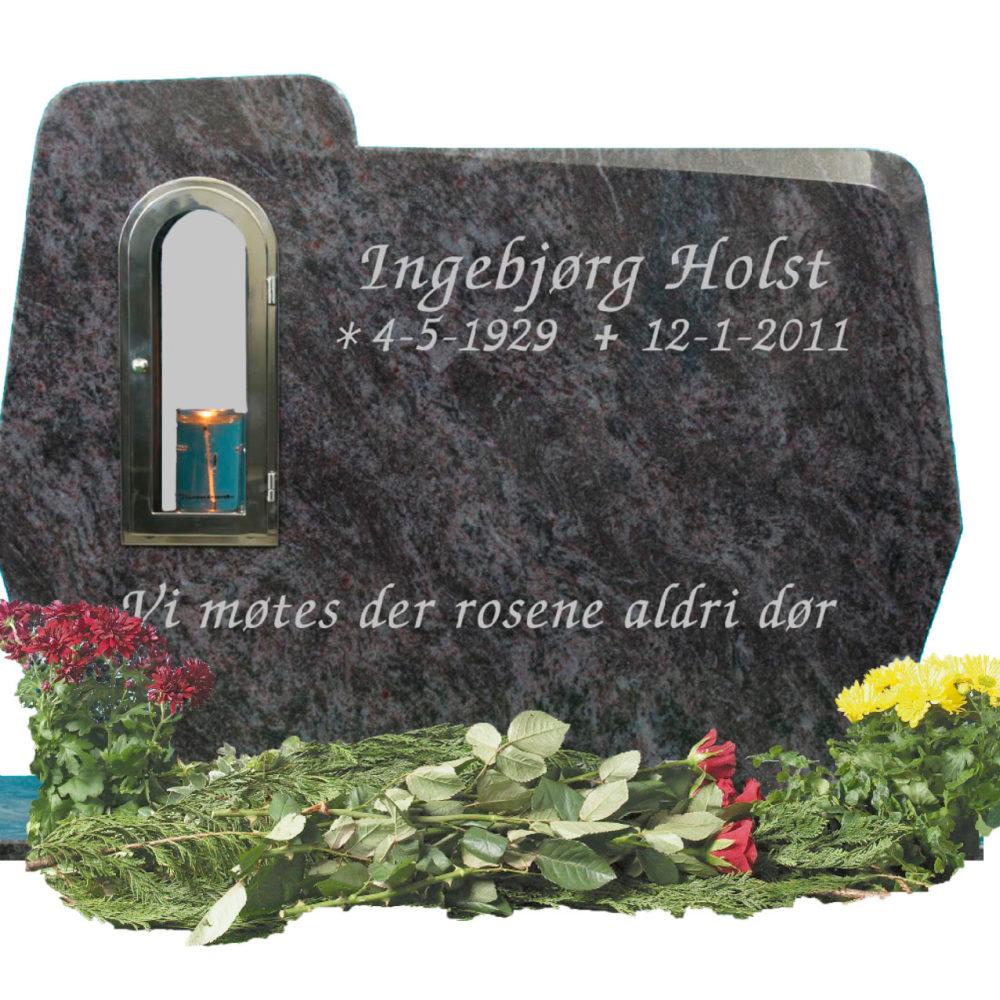 Bilde Komplett gravsten 343