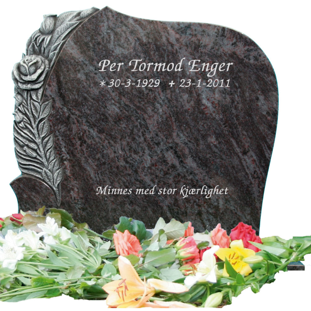 Bilde Komplett gravsten 345