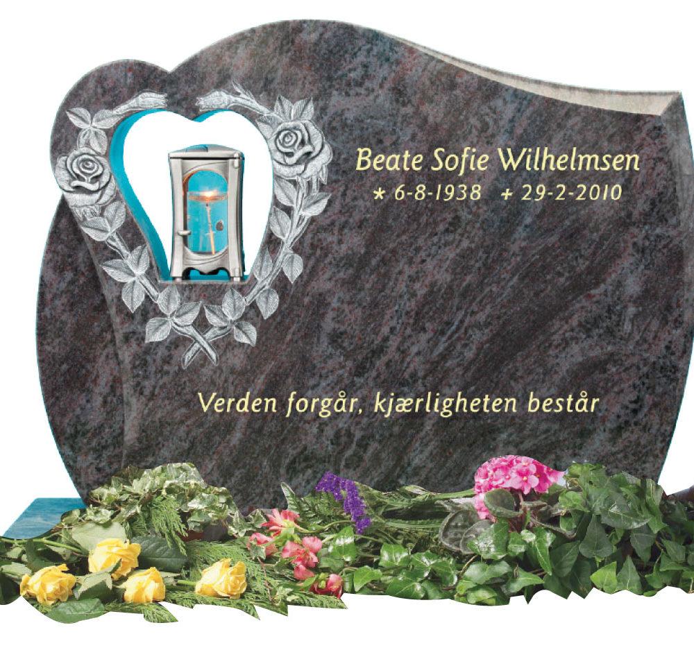 Bilde Komplett gravsten 354